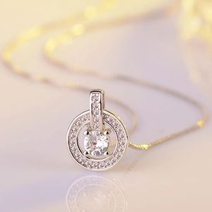 Cubic Zircon Sterling Silver Pendant Necklace NEW